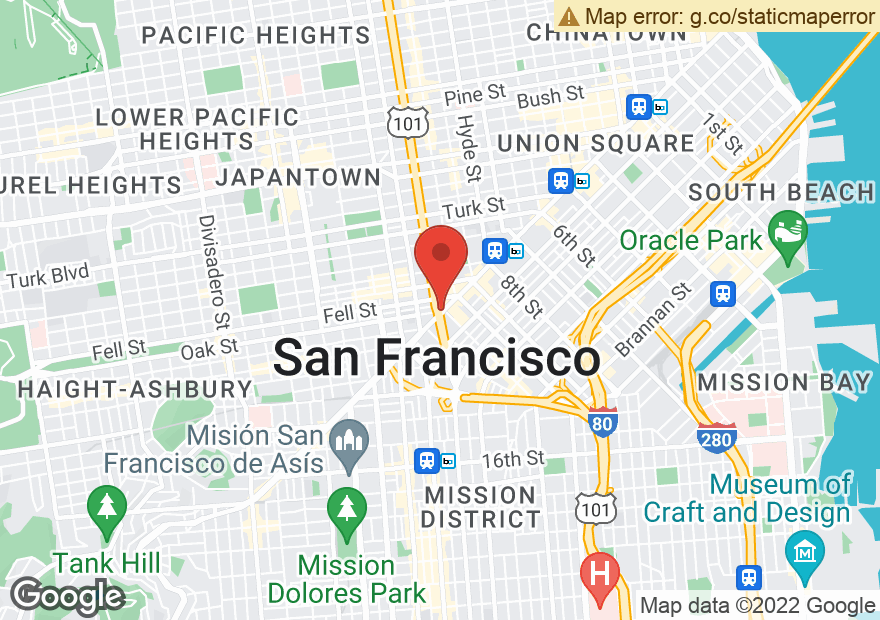 Google Map of 1496 MARKET ST