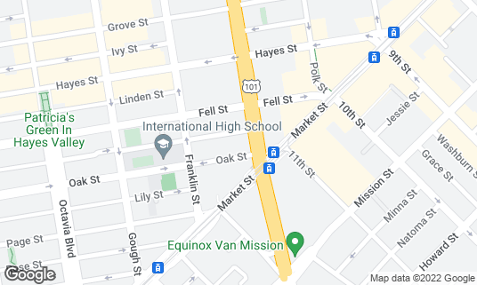 Map of New Conservatory Theatre Center at 25 Van Ness Ave San Francisco, CA