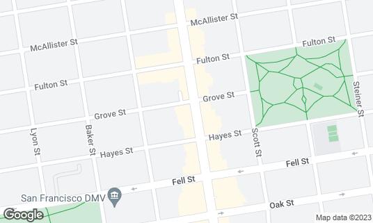 Map of Bar Crudo at 655 Divisadero St San Francisco, CA