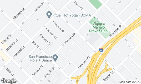 Map of Trademark at 1123 Folsom St San Francisco, CA