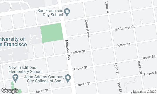 Map of Lucky at 1750 Fulton St San Francisco, CA