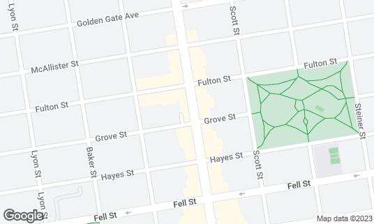 Map of 4505 Burgers & BBQ at 705 Divisadero St San Francisco, CA