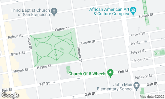 Map of Painted Ladies at Hayes St San Francisco, CA