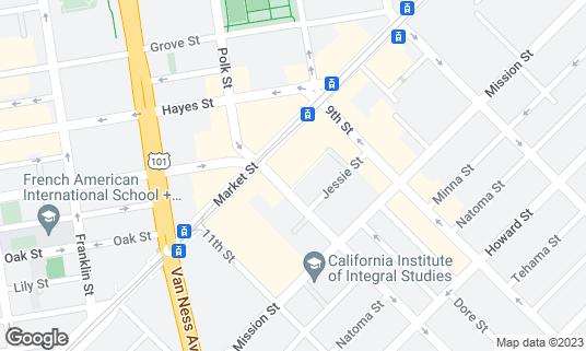 Map of Blue Bottle Coffee at 1355 Market St Ste 190 San Francisco, CA
