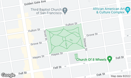Map of Alamo Square at Hayes and Steiner San Francisco, CA