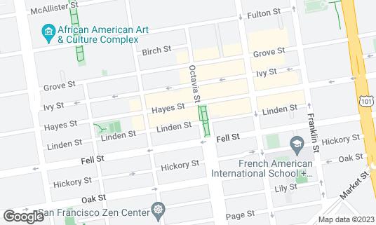 Map of Souvla at 517 Hayes St San Francisco, CA