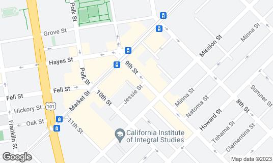 Map of Cadillac Bar and Grill at 44 9th St San Francisco, CA