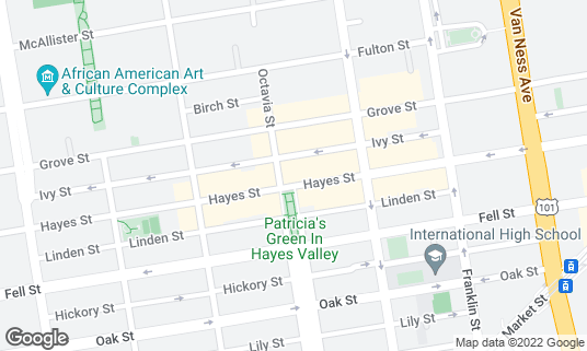 Map of Brass Tacks at 488A Hayes St San Francisco, CA