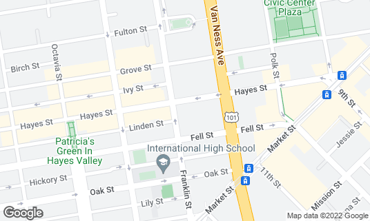 Map of Sydney Goldstein Theater at 275 Hayes St San Francisco, CA
