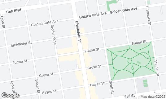 Map of Eddie's Cafe at 800 Divisadero St San Francisco, CA
