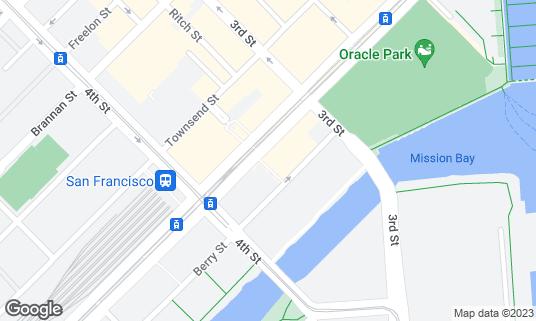 Map of Nama Sushi SF at 227 King St San Francisco, CA