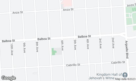 Map of Sushi Bistro at 431 Balboa St San Francisco, CA