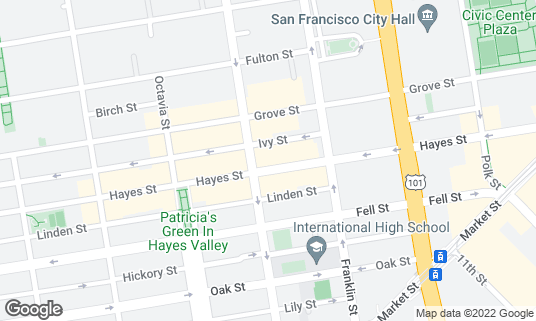 Map of Arlequin Cafe & Food-To-Go at 384 Hayes St San Francisco, CA