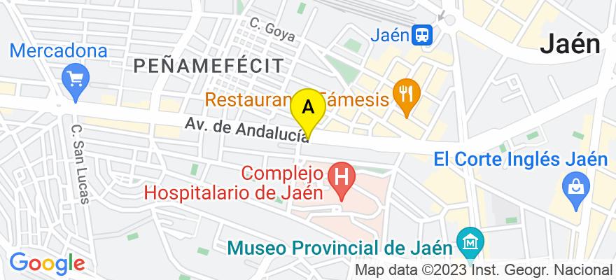 situacion en el mapa de . Direccion: Avda. Andalucía núm. 27, 5º B, 23005 Jaén. Jaén
