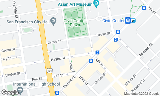 Map of Bill Graham Civic Auditorium at 99 Grove St San Francisco, CA
