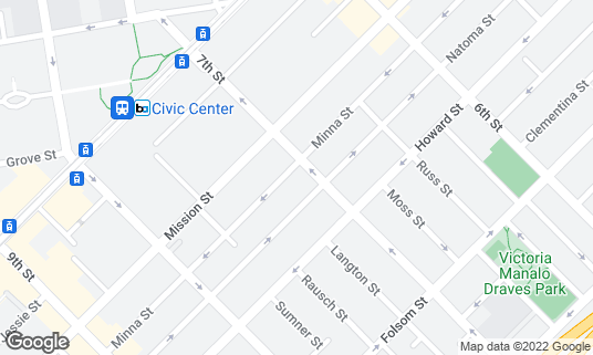 Map of Carriage Inn at 140 7th St San Francisco, CA