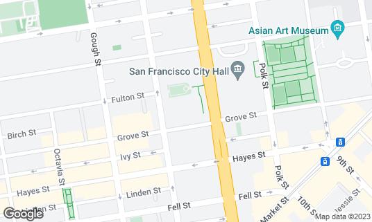 Map of War Memorial Opera House at 301 Van Ness Ave San Francisco, CA