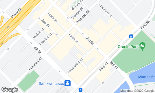 Map of Little Skillet at 360 Ritch St San Francisco, CA