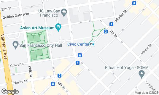Map of SHN at 1192 Market St San Francisco, CA