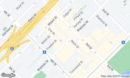 Map of Brickhouse Cafe at 426 Brannan St San Francisco, CA