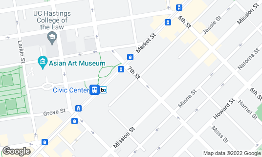 Map of Alonzo King LINES Ballet at 26 7th St Fl 5 San Francisco, CA