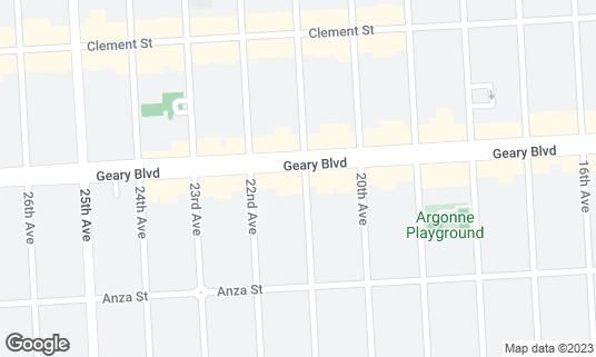 Map of Sakana Bune at 5701 Geary Blvd San Francisco, CA