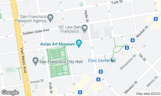 Map of Asian Art Museum at 200 Larkin St San Francisco, CA