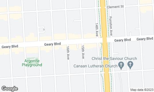 Map of Kabuto at 5121 Geary Blvd San Francisco, CA