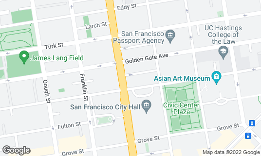 Map of August 1 Five at 524 Van Ness Ave San Francisco, CA