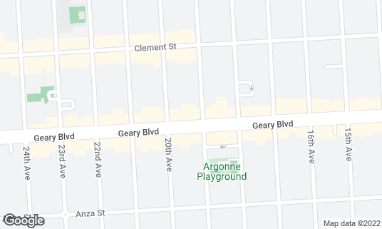 Map of Boiling Hot Pot at 5512 Geary Blvd San Francisco, CA