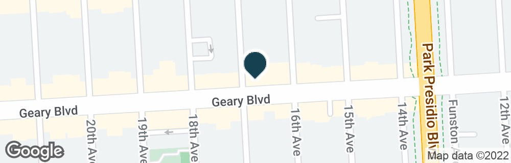 Google Map of5280 GEARY BLVD