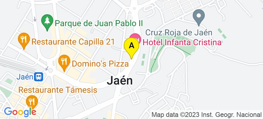 situacion en el mapa de . Direccion: Carretera Madrid 1, 23008 Jaén. Jaén