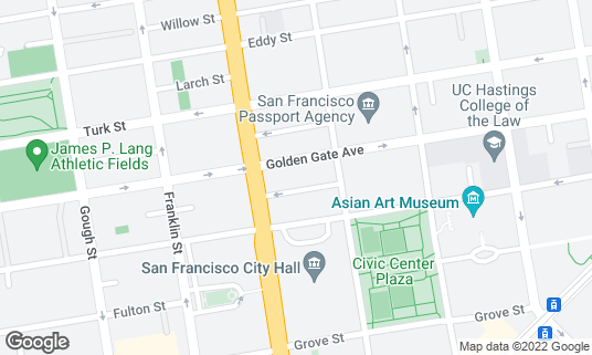 Map of The Empire Room at 555 Golden Gate Ave San Francisco, CA