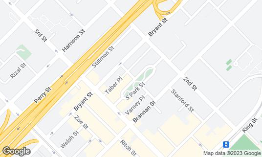 Map of Caffe Centro at 102 S Park St San Francisco, CA