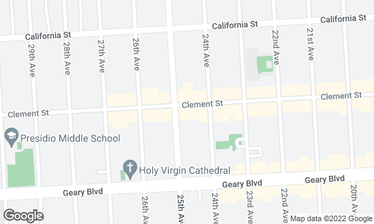 Map of Fiorella at 2339 Clement St San Francisco, CA