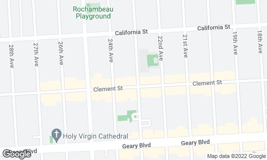 Map of 4 Star Theatre at 2200 Clement St San Francisco, CA