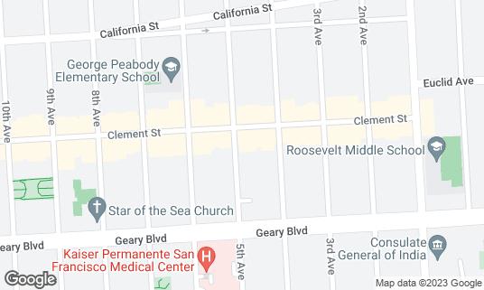 Map of Cajun House at 308 5th Ave San Francisco, CA
