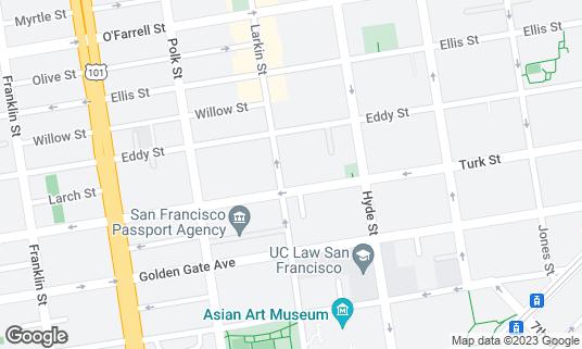 Map of Emperor Norton's Boozeland at 510 Larkin St San Francisco, CA