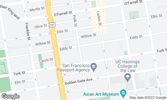 Map of BRENDA'S at 652 Polk St San Francisco, CA