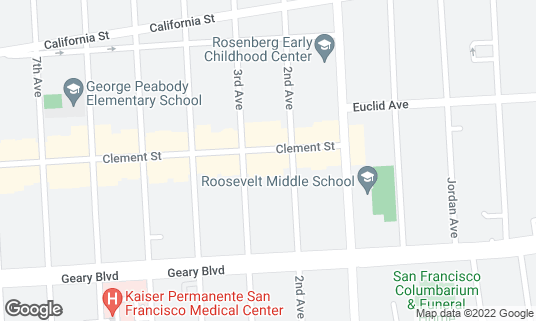 Map of B Star at 127 Clement St San Francisco, CA