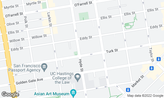 Map of Ales Unlimited: Beer Basement at 222 Hyde St San Francisco, CA