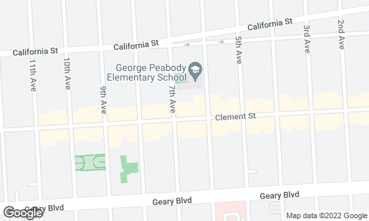 Map of 540 Club at 540 Clement St San Francisco, CA