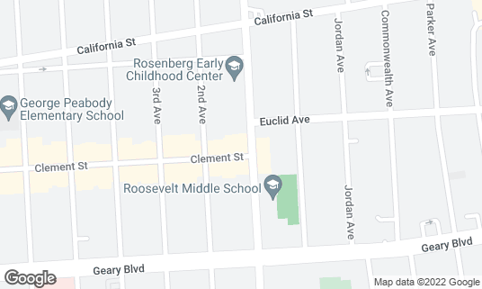 Map of Arsicault Bakery at 397 Arguello Blvd San Francisco, CA
