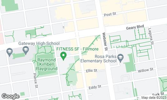 Map of Arang Restaurant at 1506 Fillmore St San Francisco, CA