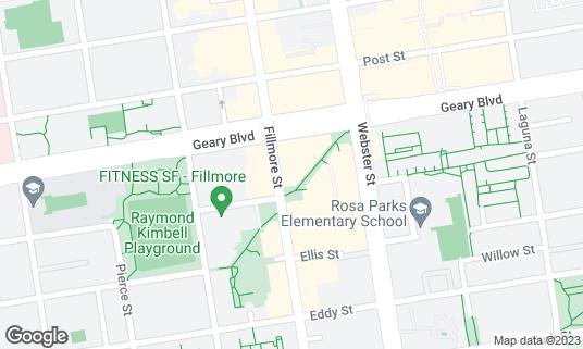 Map of Boba Guys at 1522 Fillmore St San Francisco, CA