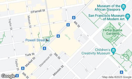 Map of M.Y. China at 845 Market St Ste 480 San Francisco, CA