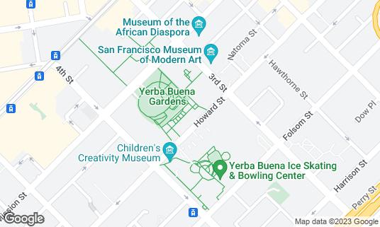 Map of B Restaurant & Bar at 720 Howard St San Francisco, CA