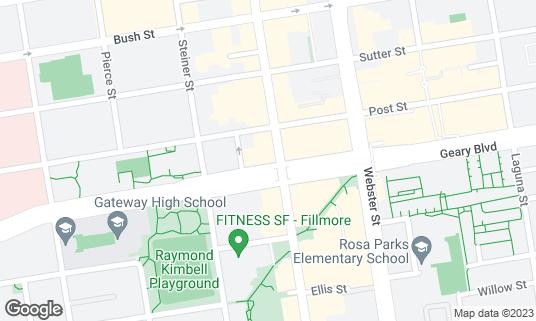Map of Boom Boom Room at 1601 Fillmore St San Francisco, CA