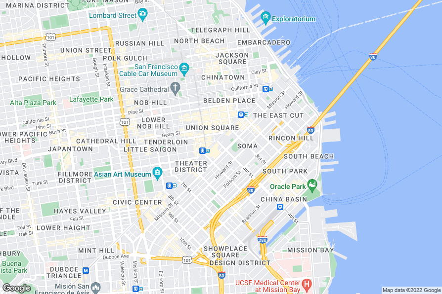 Map Of Hotels Near Moscone Center