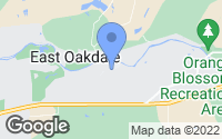 Map of Oakdale, CA